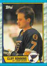 1989-90 Topps Cliff Ronning Rookie St Louis Blues #45