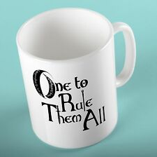 Lord of the Rings Mug Cup One to Rule Them All Birthday Gift for LOTR Fan