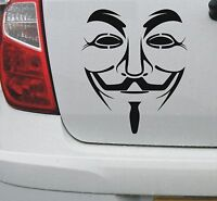 V for Vendetta Anonymous guy fawkes mask decal vinyl decal sticker - DEC1099