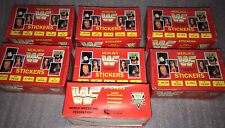 WWF 1992 MERLIN STICKERS - BOX WITH 100 PACKS,BAGS,BUSTINE