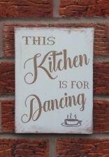 shabby vintage chic kitchen dancing sign fun plaque kitchen gift 6x8