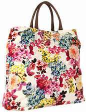 NWT Dolce & Gabbana D&G Bag Handbag Shopper Tote Floral Grosgrain Large
