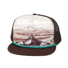 Fishpond Drifter Foam Trucker Cap, Brown/Cream