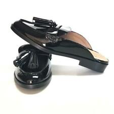 Vionic Wise Reagan Womens 7 Patent Leather Black Mules Shoes Low Block Heel NEW
