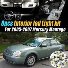 8Pc Super White Car Interior LED Light Bulb Kit for 2005-2007 Mercury Montego