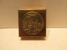 Small Pill Box Brass View of Jerrusalem on Top