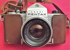 RARE ASAHI PENTAX H2 CAMERA w/f/2 55mm AUTO TAKUMAR LENS - COLLECTORS ITEM