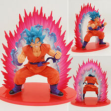 New Japan Anime DBZ Dragon Ball Z Super Saiyan God Blue Goku Kaioken Figure 14cm
