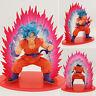 New Japan Anime DBZ Dragon Ball Z Super Saiyan God Blue Goku Kaioken Figure 14cm
