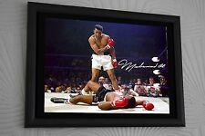 "Muhammad Ali v Sonny Liston Large A3 Framed Canvas Print Signed ""Great Gift"""