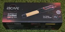 """Brand New - Escape Professional Cordless 1"""" Traveling Size Curling Iron +Charger"""