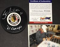Stan Mikita Chicago Blackhawks Autographed Signed Puck PSA DNA COA 61 CHAMPS