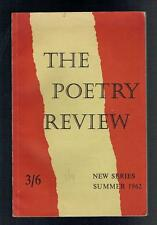 Smith, John; The Poetry Review Summer 1962. The Poetry Society 1962 Good