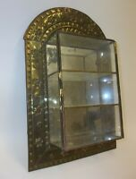 Great Old Antique Metal & Glass Small Hanging Display Cabinet