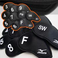Mizuno Japan Golf Club Headcover Iron cover 3I-SW 10pcs Black 45HS01470