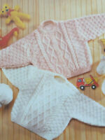 Baby boys girls Cable Cardigan Jumper Sweater KNITTING PATTERN DK 12 - 22in 910