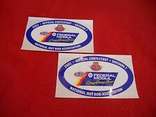 NHRA 2001 Federal Mogul Drag Racing Series division 7 official contestant decals