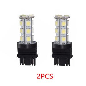 2x White 3157 5050 18-SMD Reverse Backup LED Light Bulb Professional ABS Lamp S