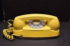 Western Electric Bell System PRINCESS Rotary Telephone YELLOW Phone Vintage NICE