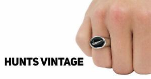 Custom Made Nike Silver Swoosh Signet Ring
