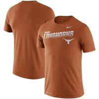 New Nike Texas Longhorns performance burnt orange t-shirt men sizes NWT Dri-Fit