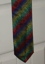 Rainbow Tie Handmade in Italy 100% Silk Pie Symbol and Lips