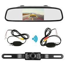 "4.3"" TFT LCD Monitor Mirror + Wireless Reverse Car Rear View Backup  IR Camera"