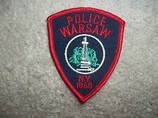 Warsaw New York Police Patch hat size approx 3 inches