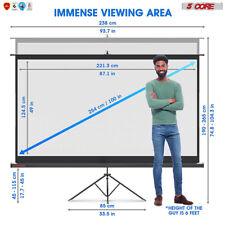 5core 100 Inch Tripod Projector Screen 169 Indoor Outdoor 8k Ultra Hd 3d Tr100