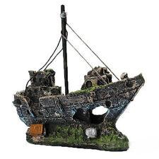 Best Aquarium Decoration Ornament Sailing Boat Ship Destroyer Fish Tank Decor