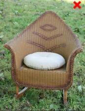 Cute Child's Antique WICKER ROCKING CHAIR Sturdy. Decorated. UNIQUE FORM. Pillow