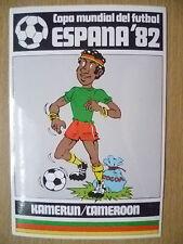 1982 COPA MUNDIAL DEL FUTBOL STICKER- KAMERUN/CAMEROON- ESPANA 82 (12x8 cm)