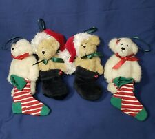 Boyds Collection Ornaments Bears With Stockings Lot Of 4 No Tags