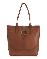 Frye N/S Tote with Ring Cognac Tan Leather Large Shoulder Bag 4DB320; NWT $428