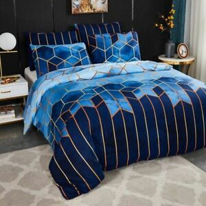 Geometry Duvet Cover Quilt Bedclothes Woven Home Linen Textiles Printed Bed Case