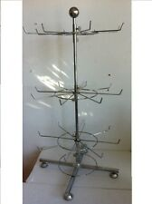 Get 1 Silver Chrome Countertop mini spinner rack Display Fixture With 3 levers