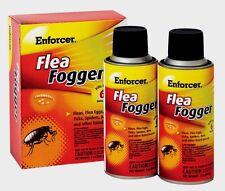 Enforcer FLEA FOGGER Kills Fleas & Eggs Ticks Spiders Ants INDOOR (2) 2oz Cans!!