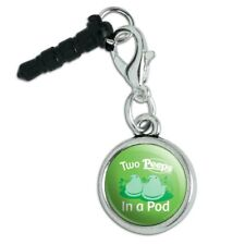 Two Peeps In a Pod Mobile Cell Phone Headphone Jack Charm