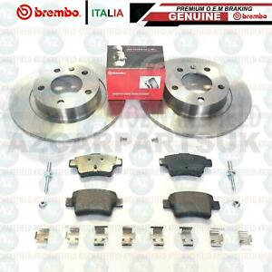 FOR VAUXHALL CORSA D VXR REAR GENUINE BREMBO BRAKE DISCS PADS 264mm *SOLID*