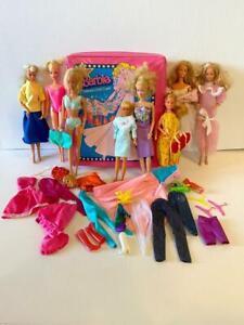 Vintage 1977 70's 80's Mattel Barbie doll Superstar era dolls clothes case lot