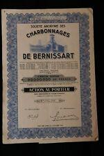 Société anonyme des Charbonnages de BERNISSART Action
