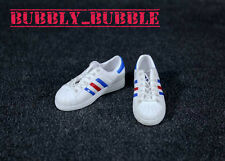 "1/6 Shoes Adidas Style Men Sneakers White For 12"" Hot Toys Figure Ship From Usa"