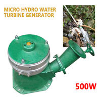 500W Water Wheel Turbine Micro Hydro Generator Hydroelectric Power 110V