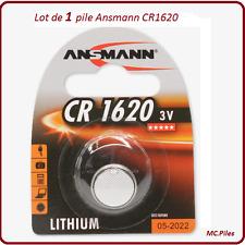 1 pila de botón CR1620 litio Ansmann