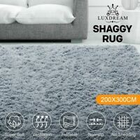Ultra Soft Shaggy Rug Anti-Slip Area Floor Mat 40mm Fluffy Shag Carpet 200x300cm