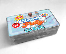 CLEVER CLEAR PUTTY - SV14278 SLIME GOO MOULD SHAPE PULL TWIST KIDS FUN PLAYTIME