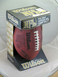 Wilson Official NFL Football Vintage NEW w/BOX Leather Pete Rozelle Signature