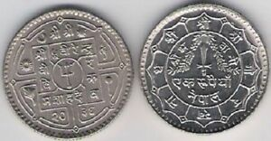 Nepal 1 Rupee KM 828 Copper Nickel Asia Nice coin 1976 - 1979 2033 - 2036 UNC
