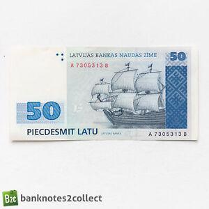 LATVIA: 1 x 50 Latvian Lat Banknote.