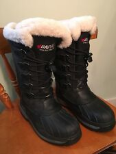 Womens Baffin Nunavut Leather Top Pac Boots Black 6 Mint!